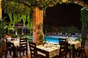 Dar Tanja, maison d'hôtes prêt du golf de Tanger, terrasse, jour et nuit, Tanger 2015