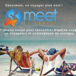 meet to travel pub réseau social voyageur reduite