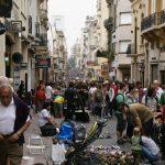 Flea market on Defensa Street - San Telmo, Buenos Aires, Argentina, 16.10.2011